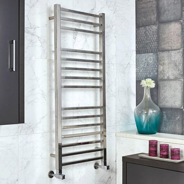 Phoenix Harper Electric Stainless Steel Designer Heated Towel Rail