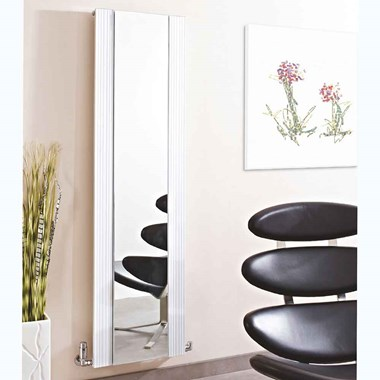 Phoenix Image Mirrored Vertical Designer Radiator - 1770x465mm