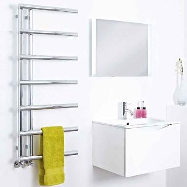 Phoenix Level Bathroom Chrome Designer Heated Towel Rail Radiator - 1200x500mm