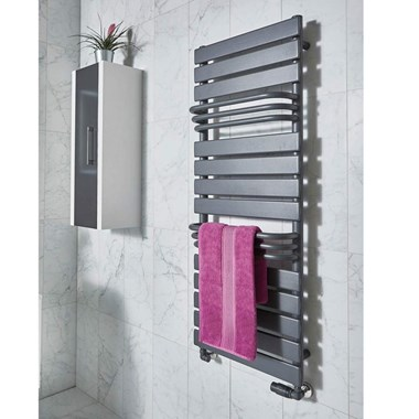 Phoenix Lift Designer Heated Towel Rail - Anthracite - 1290x500mm