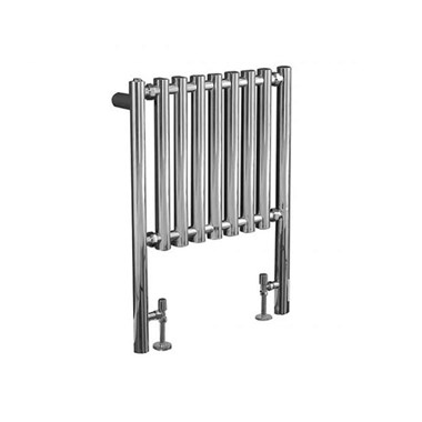 Phoenix Mia Chrome Vertical Designer Floor Standing Radiator - 800x600mm