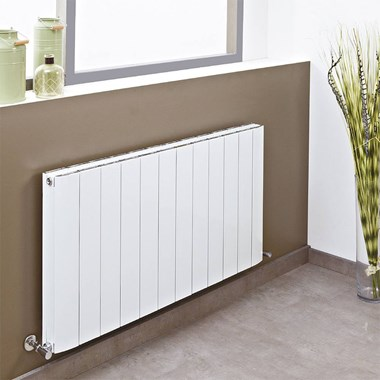 Phoenix Urban Pre Filled Electric Aluminium Radiator - White