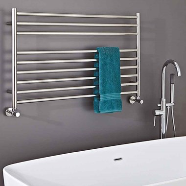 Phoenix Zonta Electric Stainless Steel Designer Heated Towel Rail Radiator