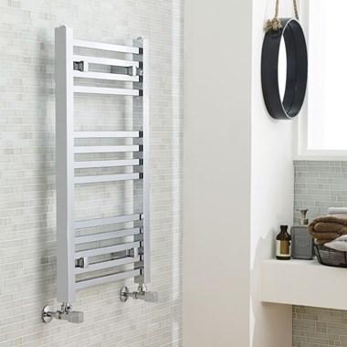 Premier Square Heated Towel Rail - Chrome