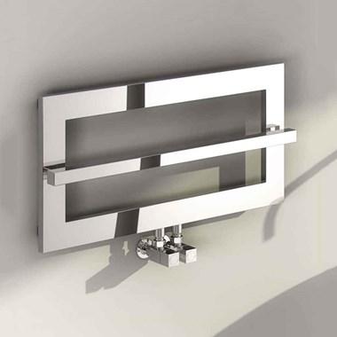 Reina Breno Designer Steel Bathroom Heated Towel Rail Radiator - 350 x 700mm