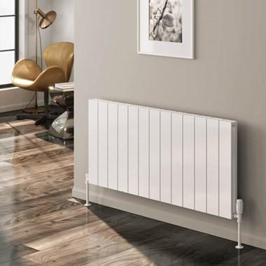 Reina Casina Aluminium Horizontal Panel Designer Radiator - White