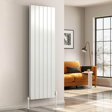 Reina Casina Aluminium Vertical Panel Designer Radiator - White