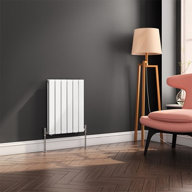 Reina Flat Panel Horizontal Designer Radiator - White