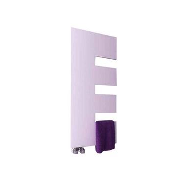 Reina Ella Designer Steel Heated Towel Rail - White - 1200x500