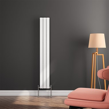 Reina Flat Panel Vertical Designer Radiator - White