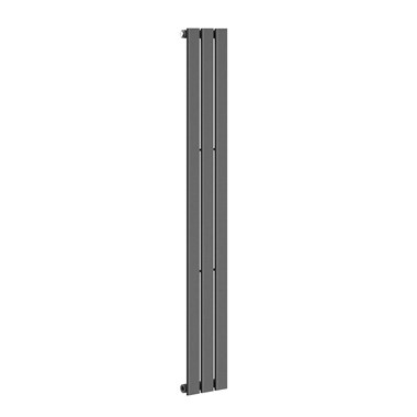 Reina Flat Panel Vertical Designer Radiator - Single Panel - Anthracite - 1800 x 218mm