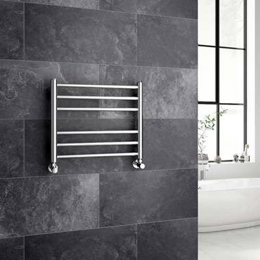 Brenton Vesta Stainless Steel Round Heated Towel Rail Radiator