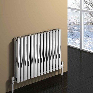 Reina Nerox Horizontal Panel Designer Radiator - Polished Stainless Steel