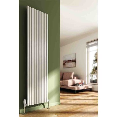 Reina Quadral Double Panel Aluminium Vertical Designer Radiator