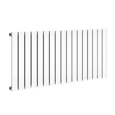 Reina Flat Panel Horizontal Designer Radiator - Single Panel - White - 600 x 1254mm