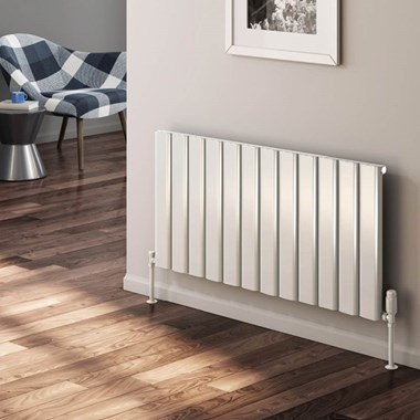 Reina Vicari Aluminium Single Panel Horizontal Designer Radiator
