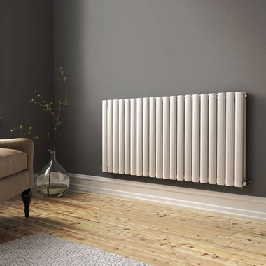 Brenton Oval Double Panel Horizontal Radiator - 600 x 1185mm