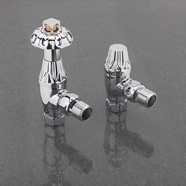 Sagittarius Islington Thermostatic Angled Radiator Valves