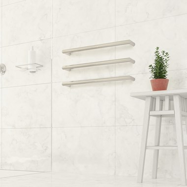 Thermosphere Round Single Bar Heated Towel Rail