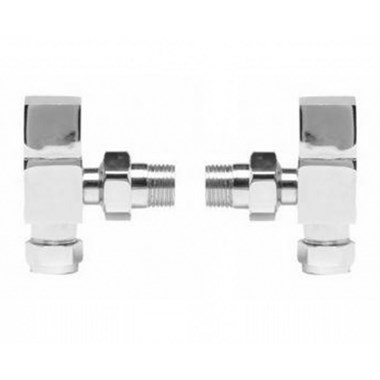 Ultra Pure Square Radiator Valves - Angled