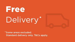 Free delivery. Some areas excluded. Standard delivery only. Terms and Conditions apply.