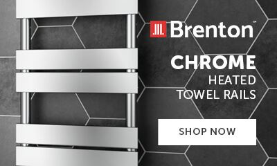 Brenton chrome heated towel rails